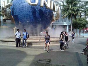 工人游玩新加坡
